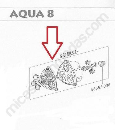 Kit grupo transmisión Aqua 8 esquema