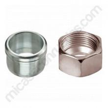 Tuerca de unión + férula para tubería de gas de 10 o 8 mm