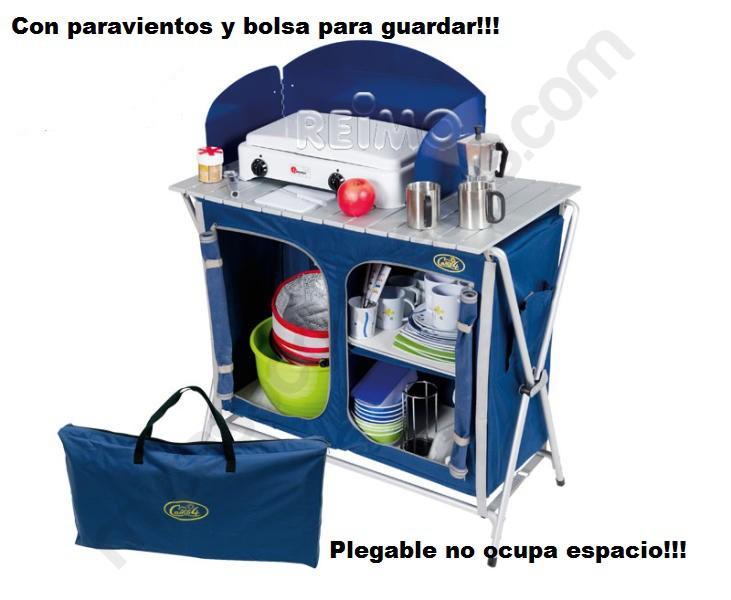 Mueble de cocina camping cuccinella quick for Mueble cocina camping alcampo