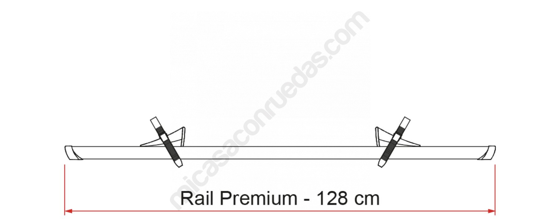 rail premiuim fiamma medidas