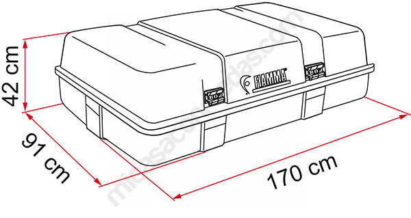 Baúl de techo Fiamma Ultra-Box 3