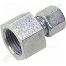 Connexió canonada de gas, rosca 1/2 polzada 8 mm