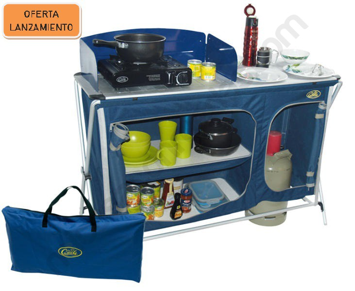 Mueble Cocina Camping Quick Complet - Micasaconruedas.com